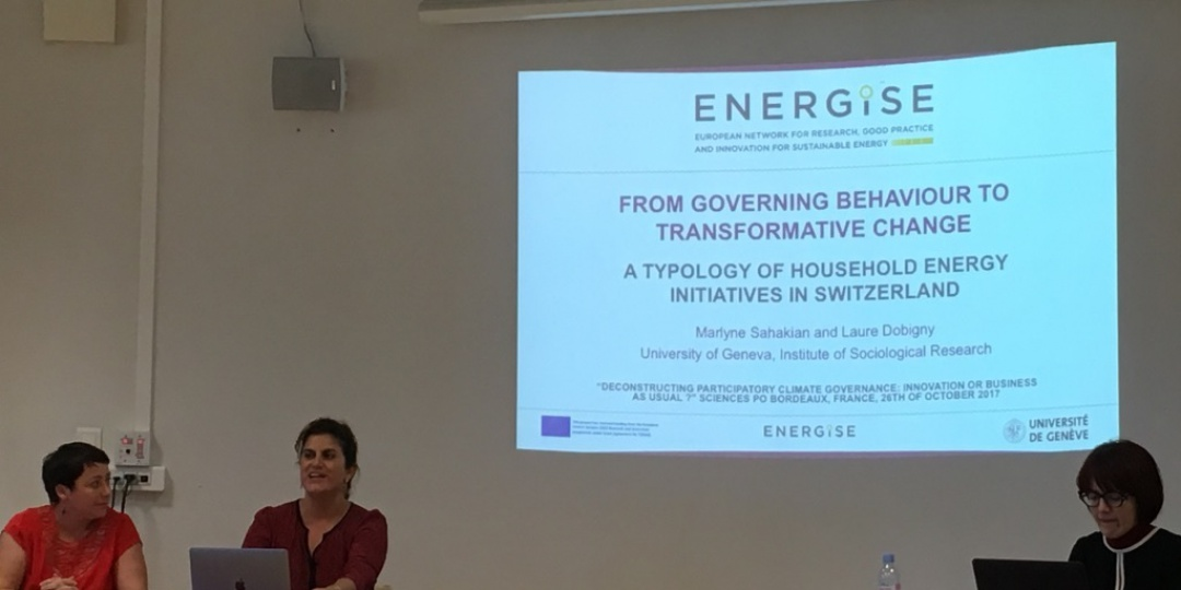 "ENERGISE at the ""Deconstruction Participatory Climate Governance"" workshop"