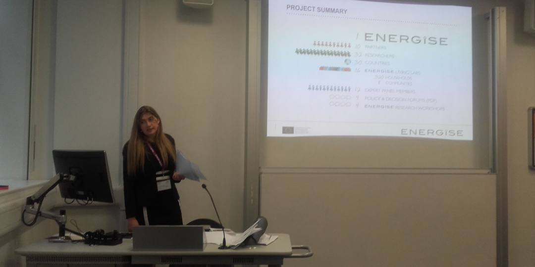 ENERGISE presented at the RGS-IBG Annual International Conference